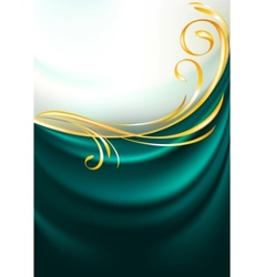 dark emerald fabric vector image