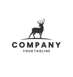 Deer hunting logo design inspiration vector