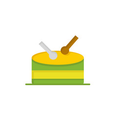 drum celebration flat color icon icon banner vector image