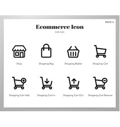 ecommerce icons line pack vector image