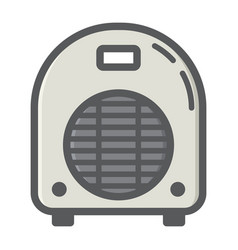 electric fan heater colorful line icon household vector image