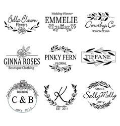 Floral logo collection vector