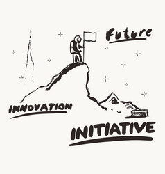 future innovation initiative a astronaut a vector image