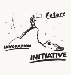 future innovation initiative a astronaut vector image