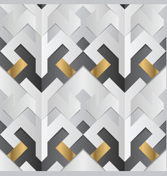 geometric decor stripes white and golden element vector image