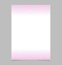 geometrical halftone pattern brochure template vector image