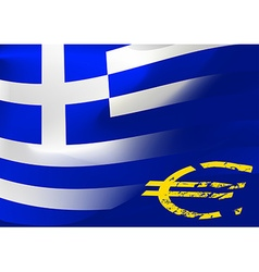 Greece flag with EU symbol vector