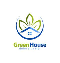 Green house garden realty logo vector