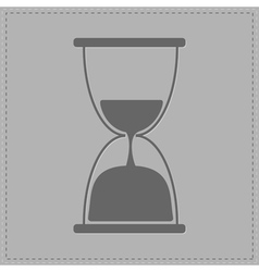 Grey hourglass with sand inside Card vector