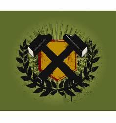 hammer emblem vector image
