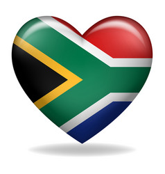 heart shape south africa insignia vector image