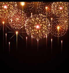 holiday festival golden firework independence day vector image