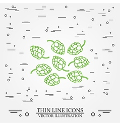 Hops thin line design hops pen icon hops pen icon vector
