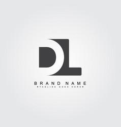 Initial letter dl logo - simple business logo vector