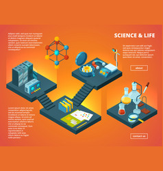 Isometric science lab biology pharmaceutical or vector