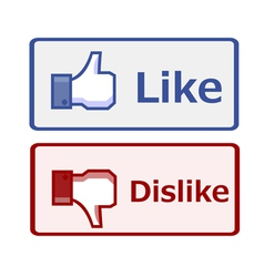 Like and dislike button vector