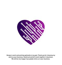 Love tech creative logo concepts tech logo vector
