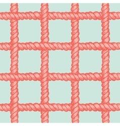 Marine rope net seamless pattern vector image