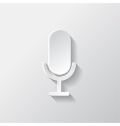 Microphone icon Sound recording vector image