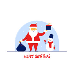 modern flat cartoon characters santa claus with vector image