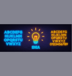 neon sign idea template for design with neon vector image