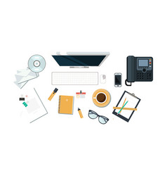 Office workplace organization of working space vector