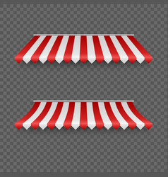 Outdoor awnings striped tents or textile rofor vector