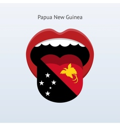 Papua New Guinea language Abstract human tongue vector