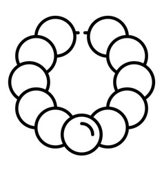 Pearl bracelet icon outline style vector