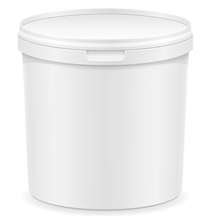 Plastic container for ice cream or dessert 02 vector
