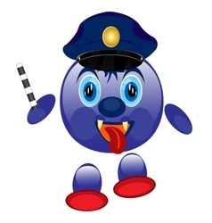 Police smaile vector