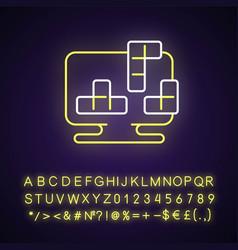 puzzles neon light icon vector image