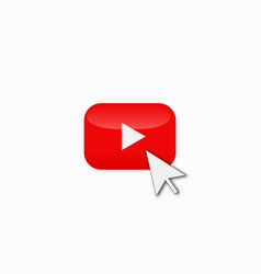 red play button vector image