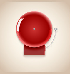 Red school bell vector