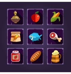 Resource Icons for Games Food and Potions vector