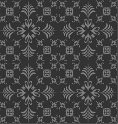 Retro floral seamless background vector