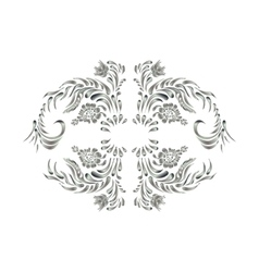 Royal design element Silver flowers vector image
