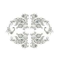 Royal design element Silver flowers vector