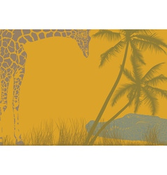 Safari animal background vector image