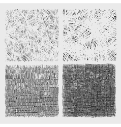 Set of rough hatching drawing texture vector image