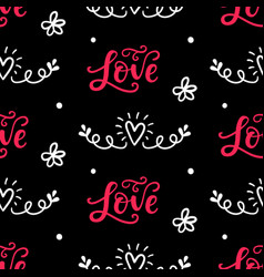set valentines day hand drawn doodles icons vector image