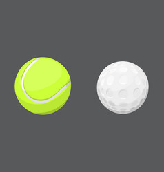 sport balls isolated tournament win round golf vector image