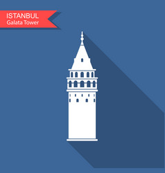 symbol of istanbul and turkey galata tower vector image