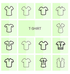 t-shirt icons vector image