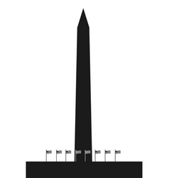 the washington monument vector image