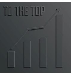 top diagram vector image vector image