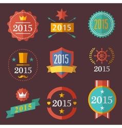 Typographic set vintage labels signs badges vector