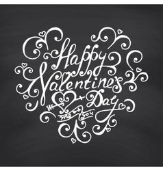 Valentines Day Blackboard background vector image