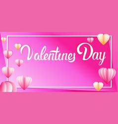 valentines day celebration love banner flyer or vector image