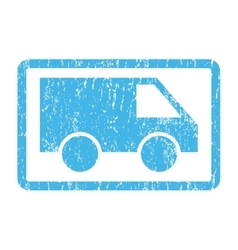 Van Icon Rubber Stamp vector